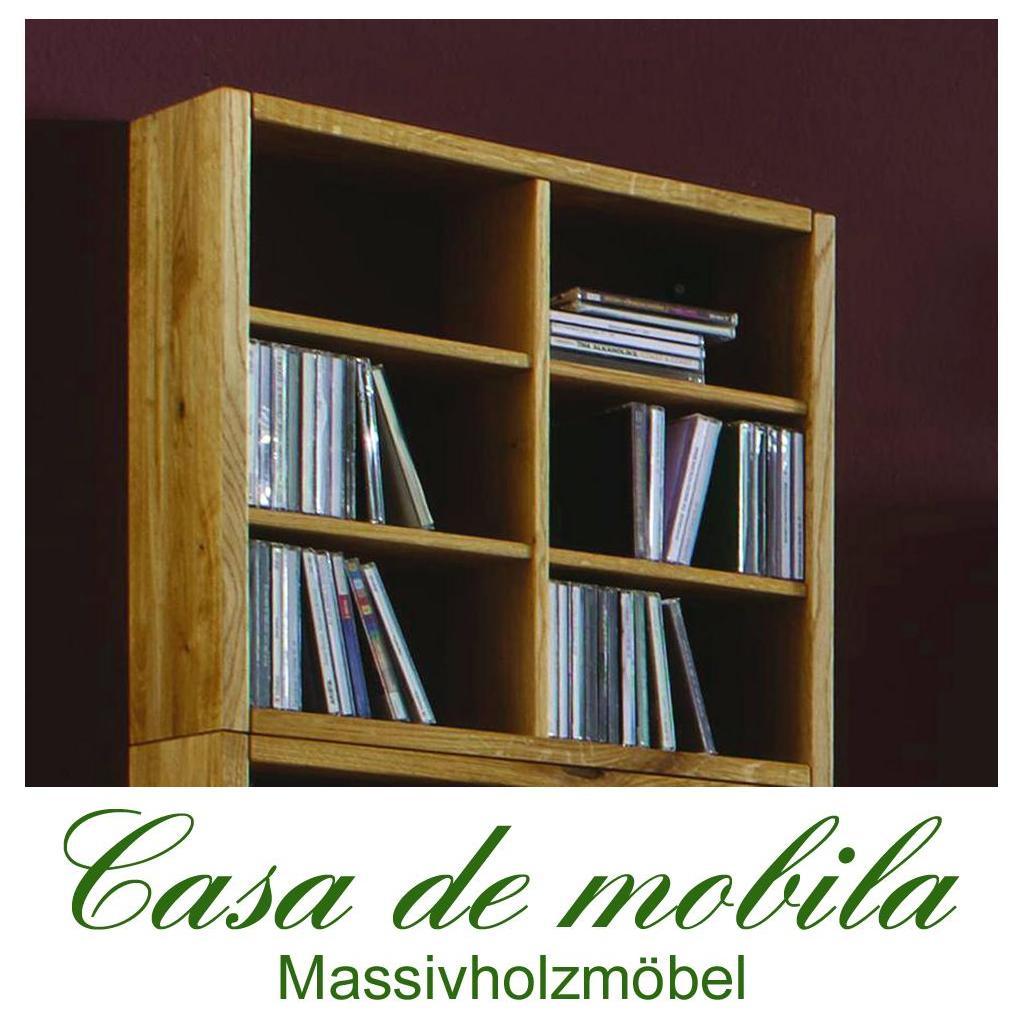 massivholz cd regal wildeiche natur ge lt take it h ngeregal wandregal eiche. Black Bedroom Furniture Sets. Home Design Ideas