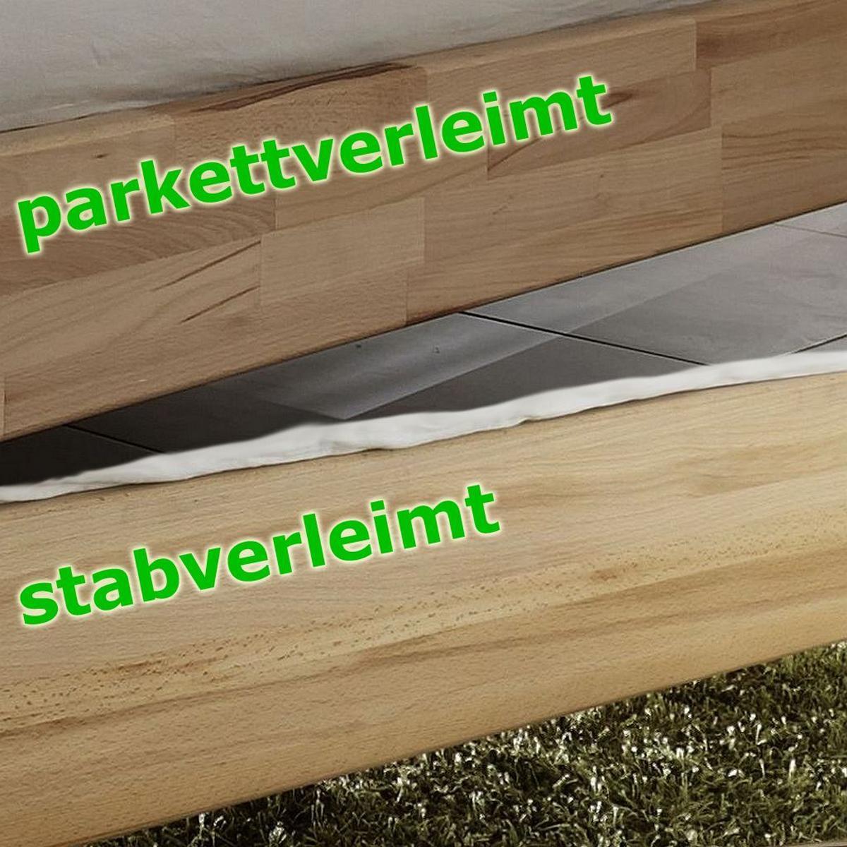 massivholz einzelbett 120x200 holzbett bett kernbuche massiv ge lt. Black Bedroom Furniture Sets. Home Design Ideas