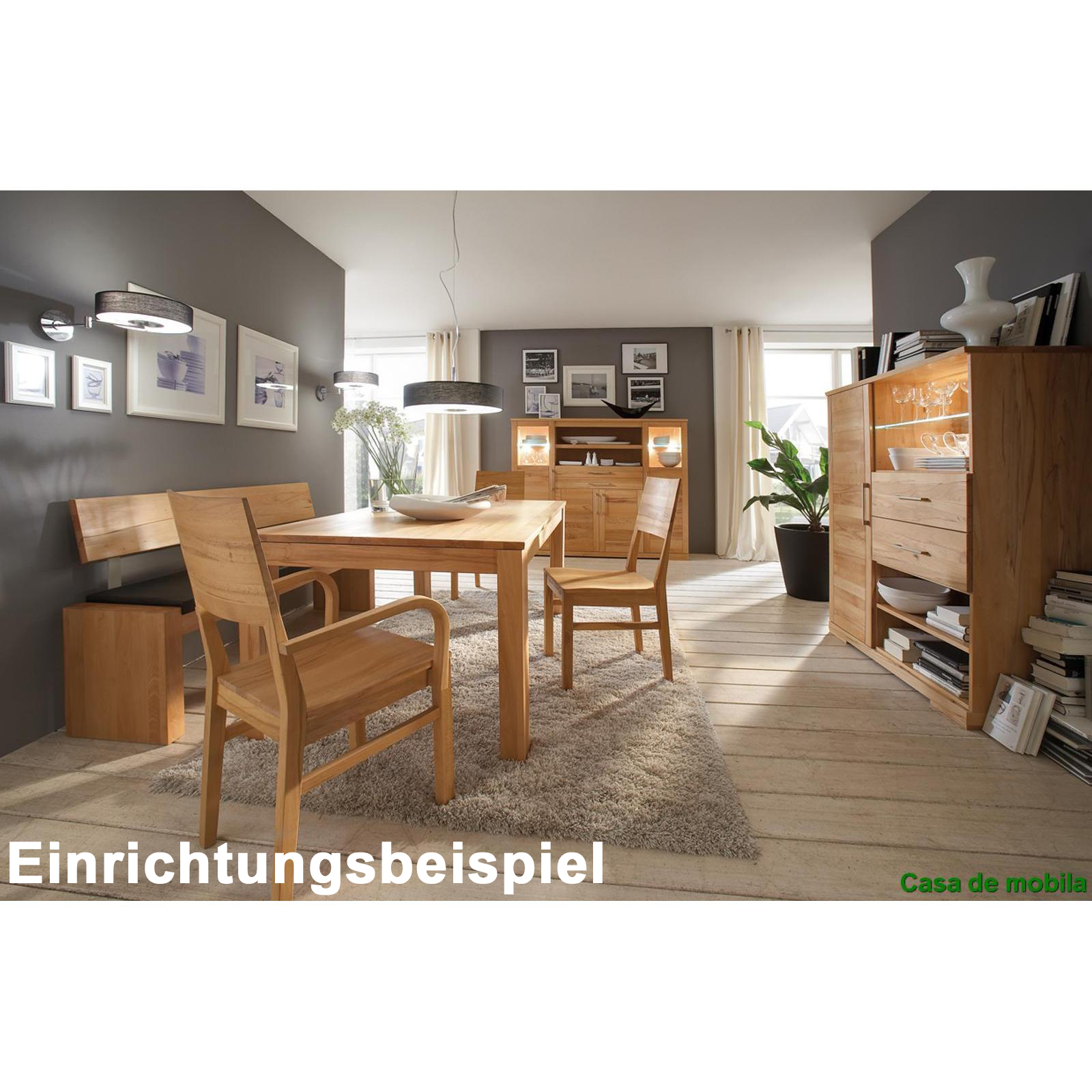 massivholz sideboard anrichte schrank holz buche massiv. Black Bedroom Furniture Sets. Home Design Ideas