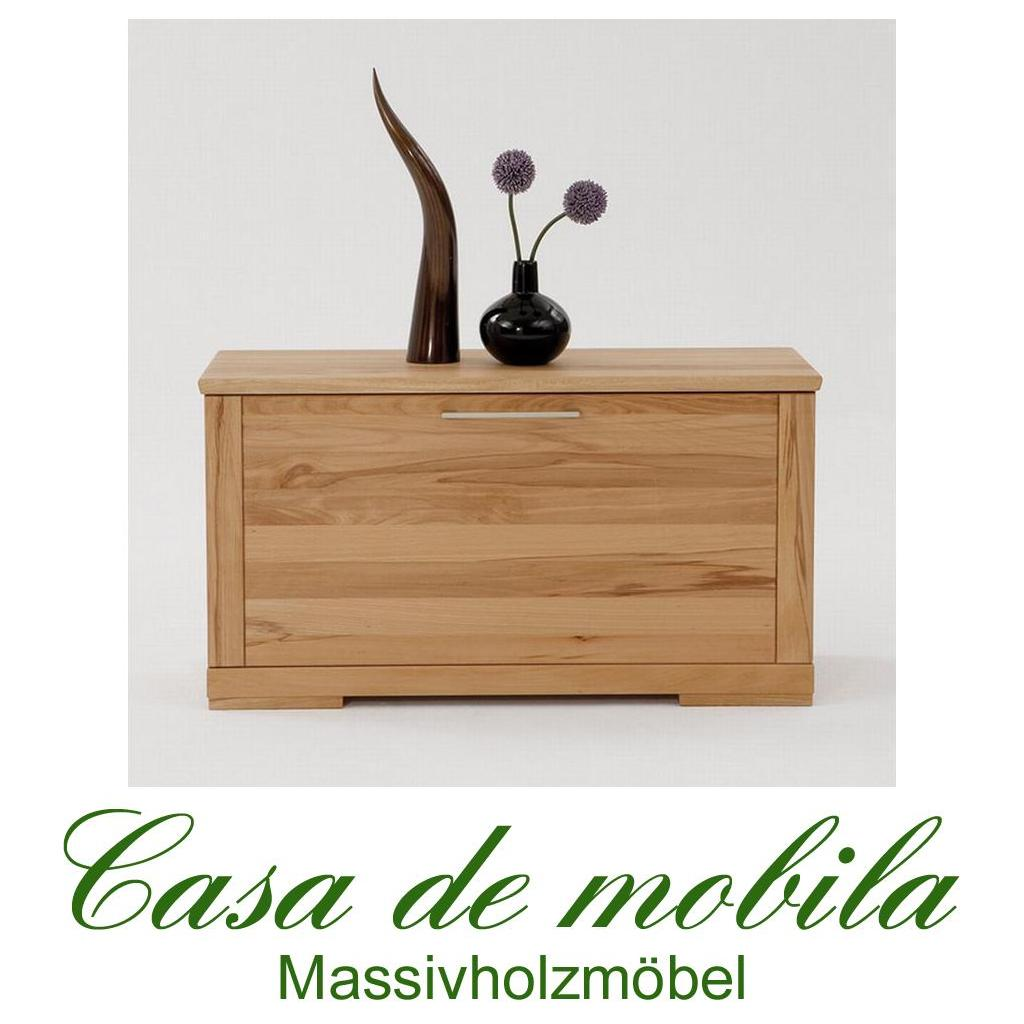 massivholz schuhtruhe schuhschrank flurkommode holz buche massiv ge lt kernbuche ebay. Black Bedroom Furniture Sets. Home Design Ideas