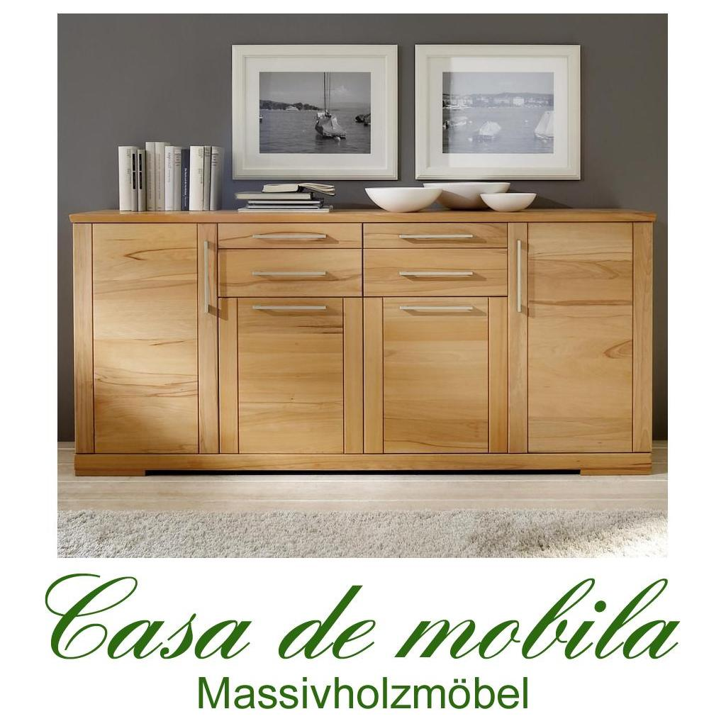 massivholz sideboard anrichte schrank holz buche massiv ge lt kernbuche kommode ebay. Black Bedroom Furniture Sets. Home Design Ideas