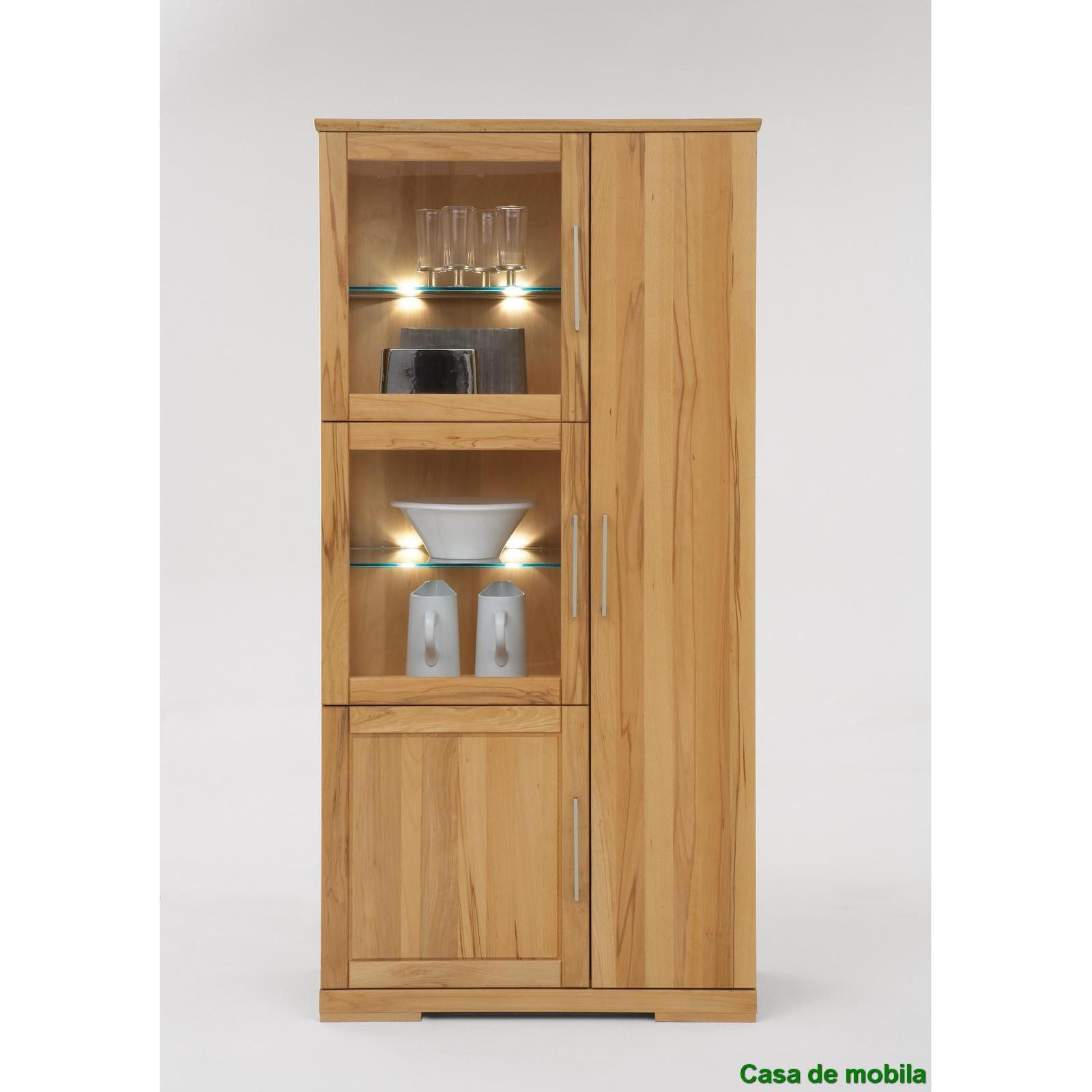 massivholz vitrine vitrinenschrank holz buche massiv ge lt schrank kernbuche. Black Bedroom Furniture Sets. Home Design Ideas