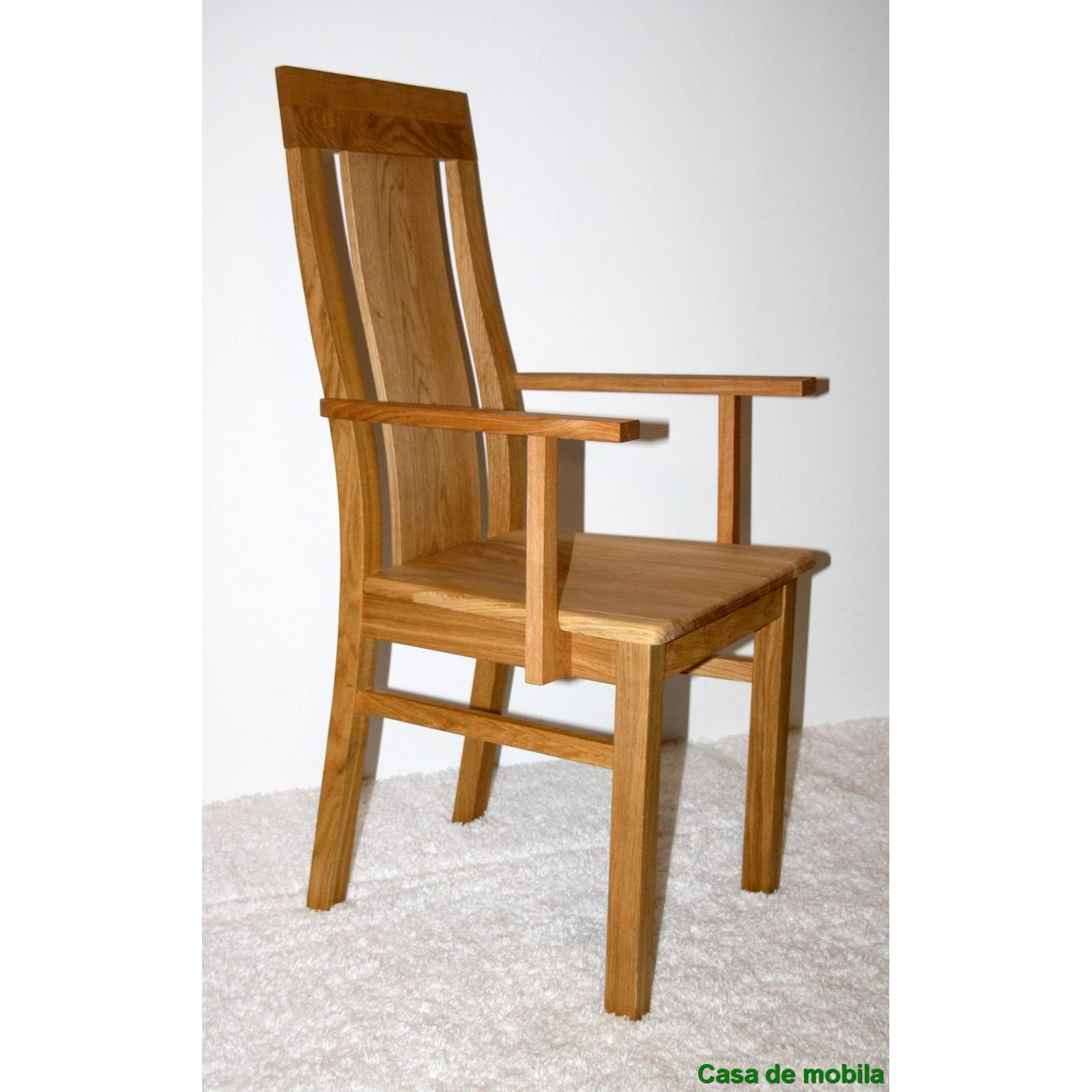 massivholz armlehnstuhl wildeiche massiv ge lt stuhl mit armlehne ebay. Black Bedroom Furniture Sets. Home Design Ideas