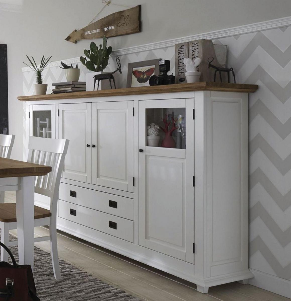 highboard wohnzimmerm bel wei wildeiche 4 t rig roxanne. Black Bedroom Furniture Sets. Home Design Ideas
