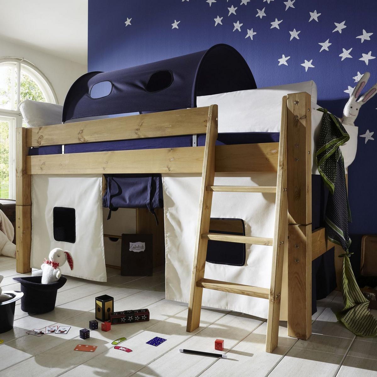 massivholz hochbett tobykids kiefer massiv gelaugt ge lt. Black Bedroom Furniture Sets. Home Design Ideas