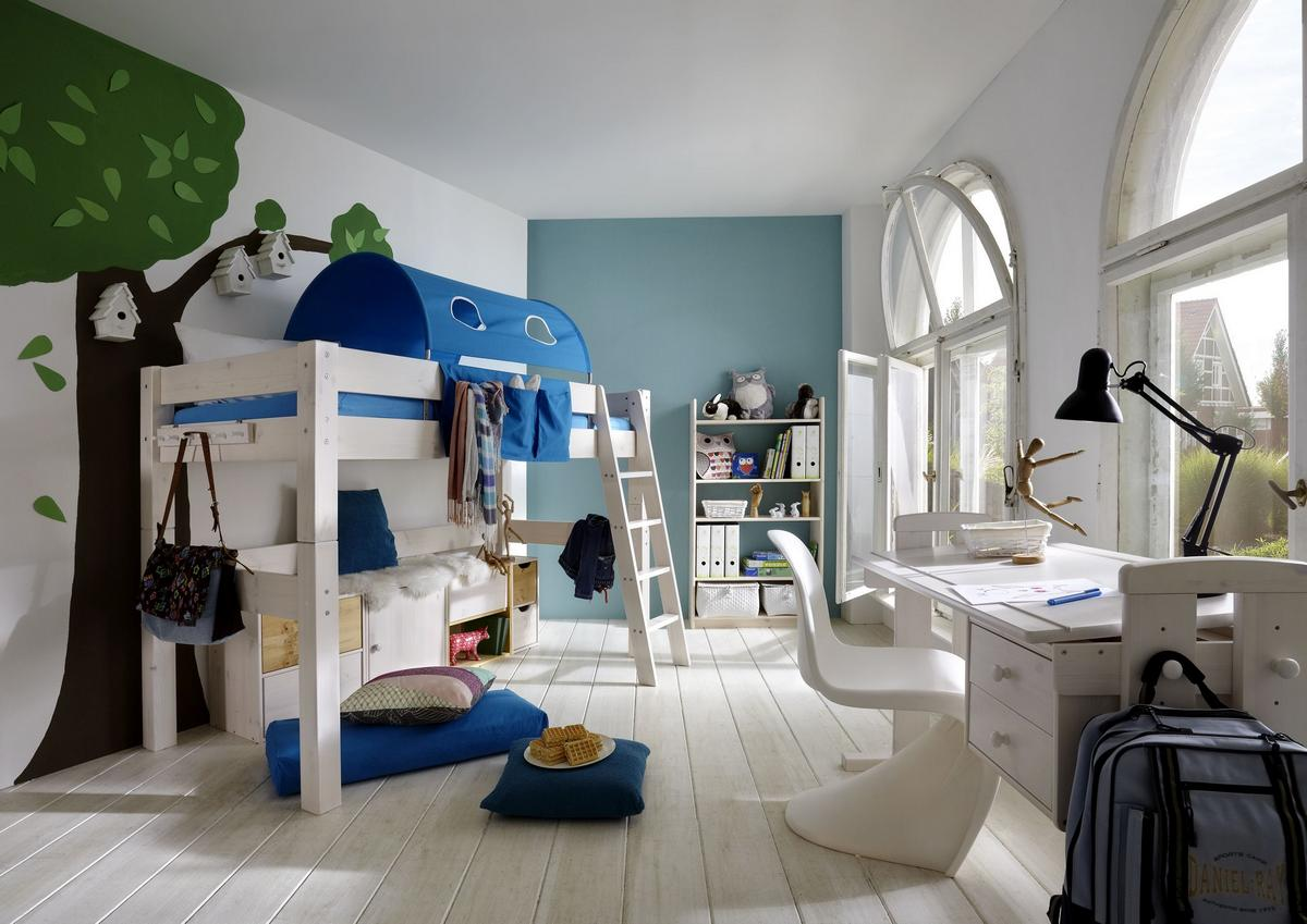Kinderbett 90×200 weis massivholz – sehremini