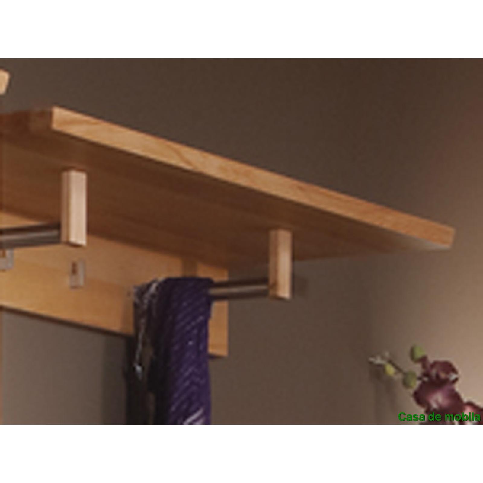 hutablage garderobe wandgarderobe flurm bel kernbuche holz buche massiv ge lt ebay. Black Bedroom Furniture Sets. Home Design Ideas