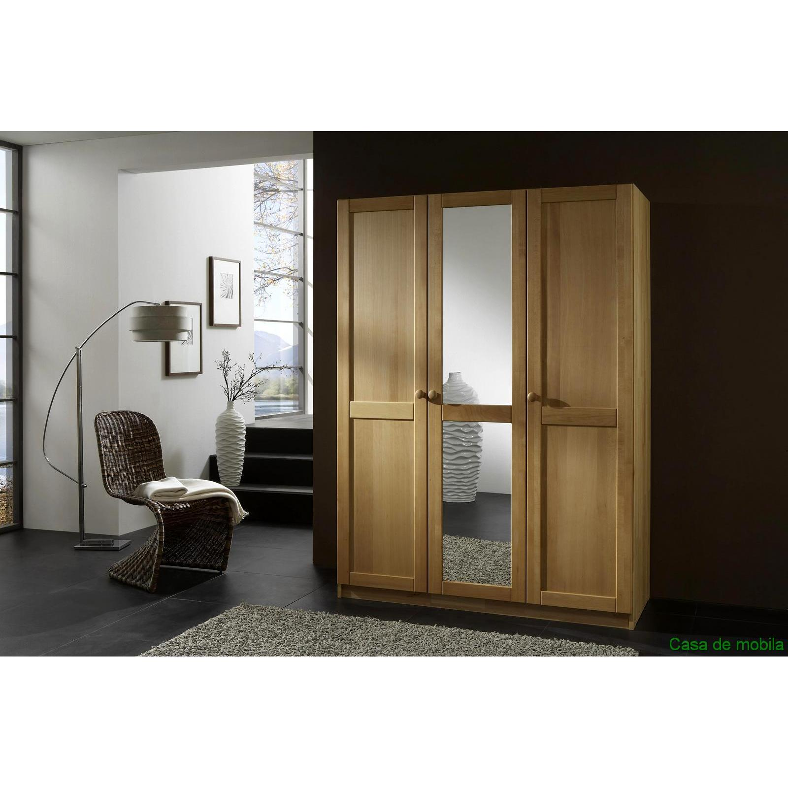 massivholz kleiderschrank 3 t rig w scheschrank holz buche massiv ge lt front 2 ebay. Black Bedroom Furniture Sets. Home Design Ideas