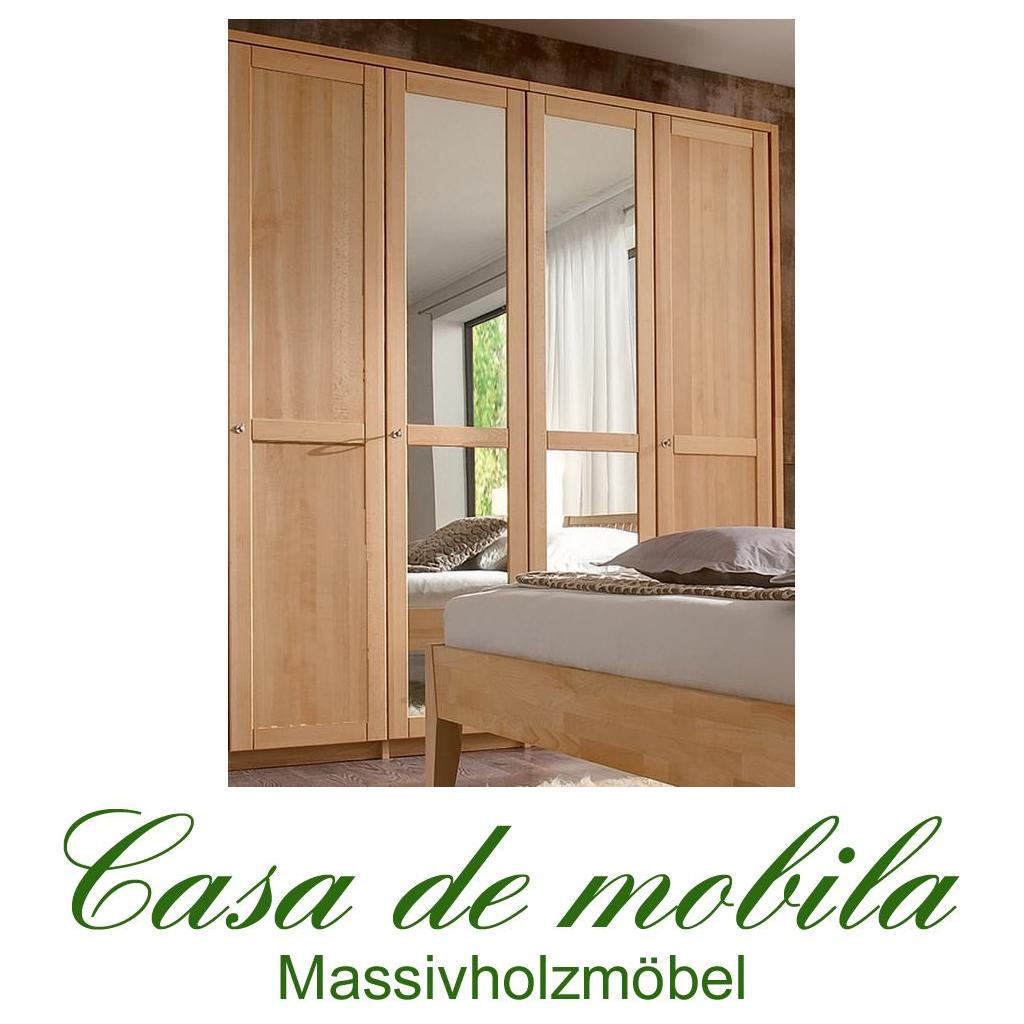 massivholz kleiderschrank 4 tuerig schrank holz buche massiv geoelt front2 ebay. Black Bedroom Furniture Sets. Home Design Ideas