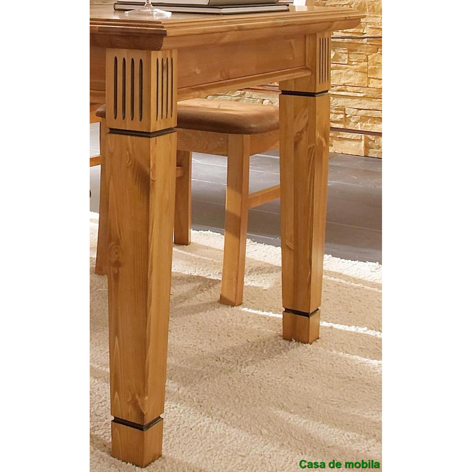 Massivholz Esstisch rund Kiefer goldbraun patiniert GÖTEBORG  Tisch