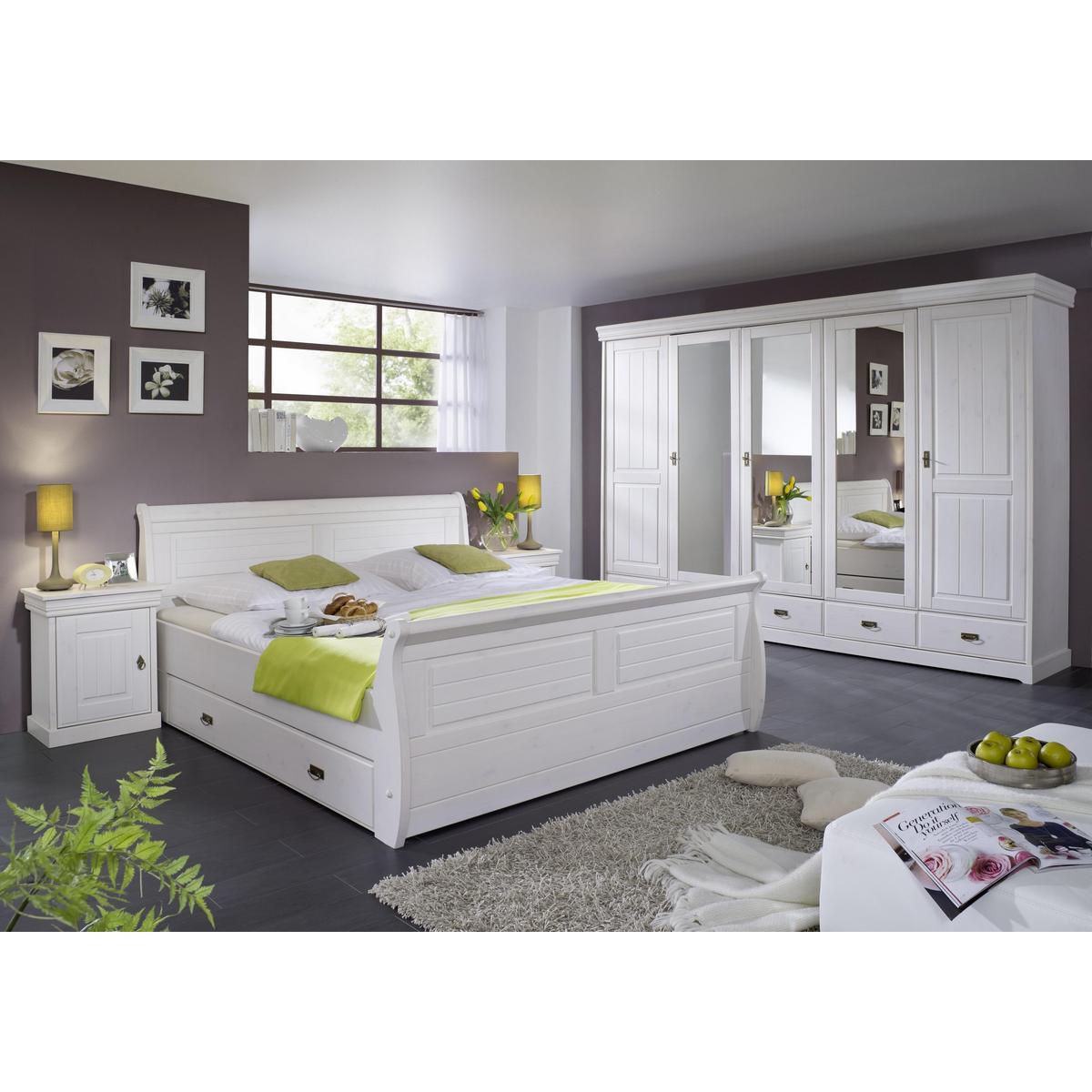 massivholz schlafzimmer kiefer komplett 4 teilig rom. Black Bedroom Furniture Sets. Home Design Ideas