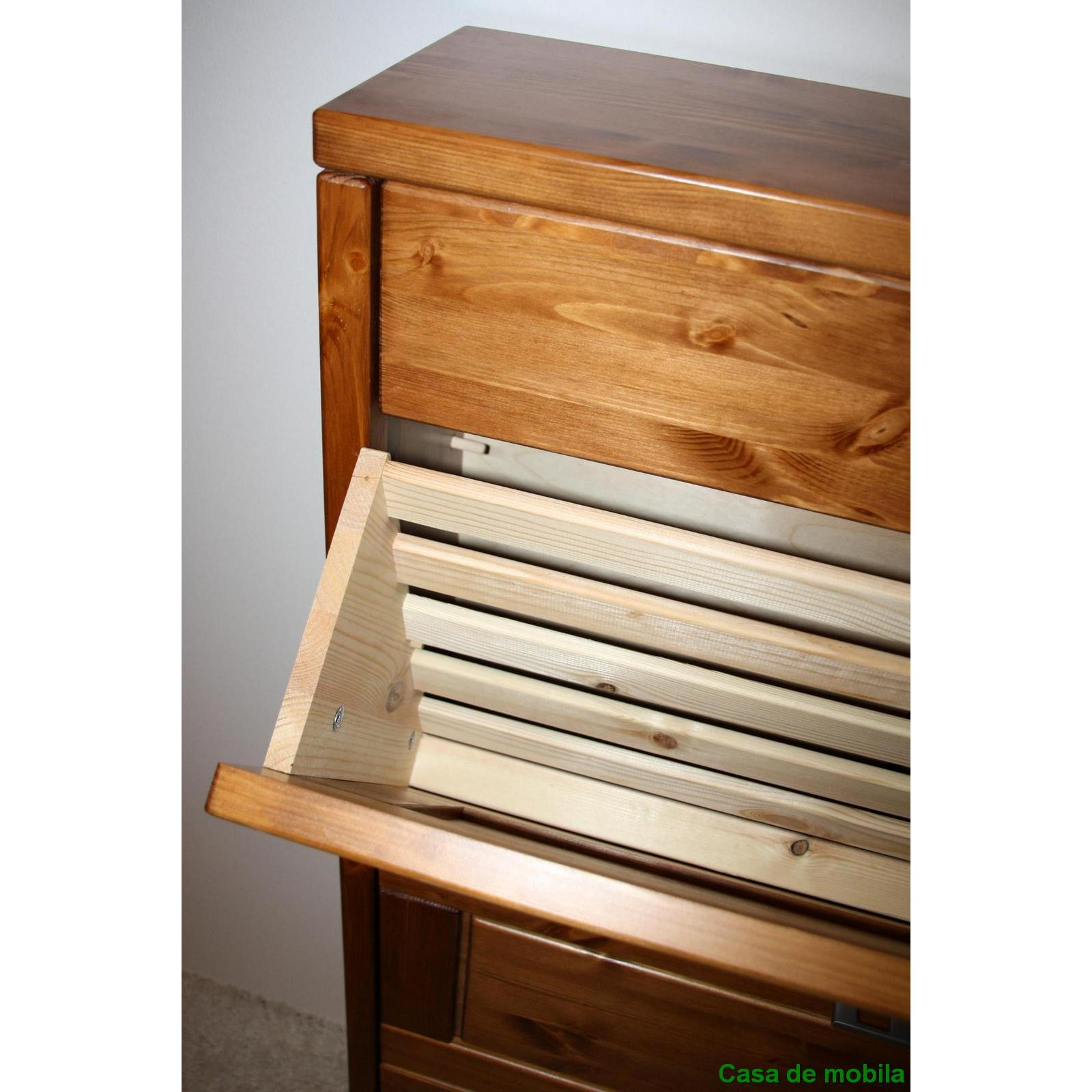 schuhschrank schuhkipper schuhkommode holz kiefer massiv. Black Bedroom Furniture Sets. Home Design Ideas
