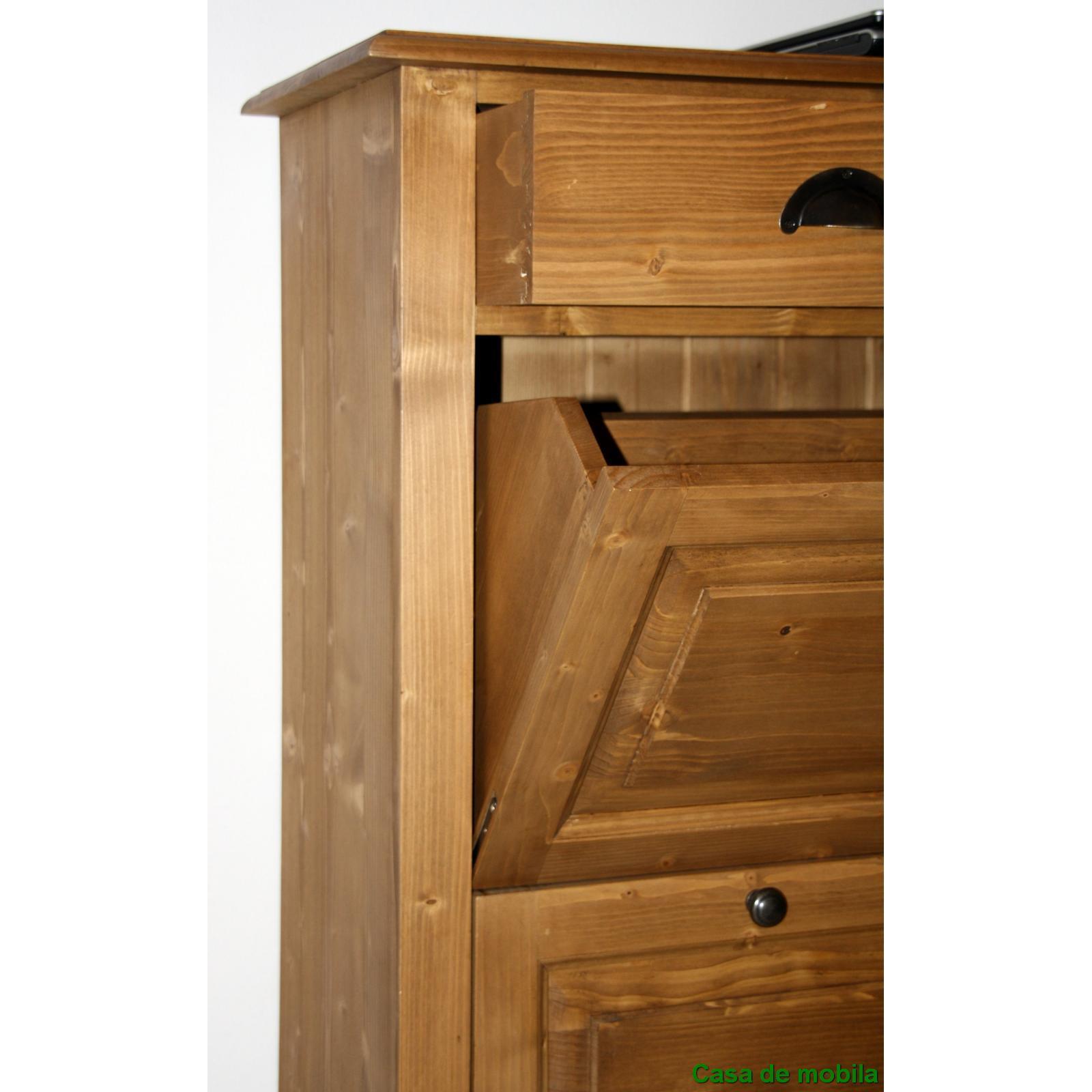 massivholz schuhschrank schuhkipper holz fichte massiv antik dunkel schuhkommode ebay. Black Bedroom Furniture Sets. Home Design Ideas