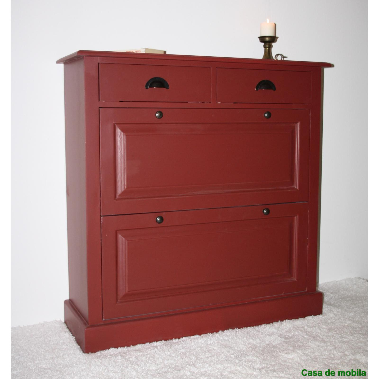 massivholz schuhschrank schuhkipper fichte massiv bordeaux lackiert schuhkommode. Black Bedroom Furniture Sets. Home Design Ideas