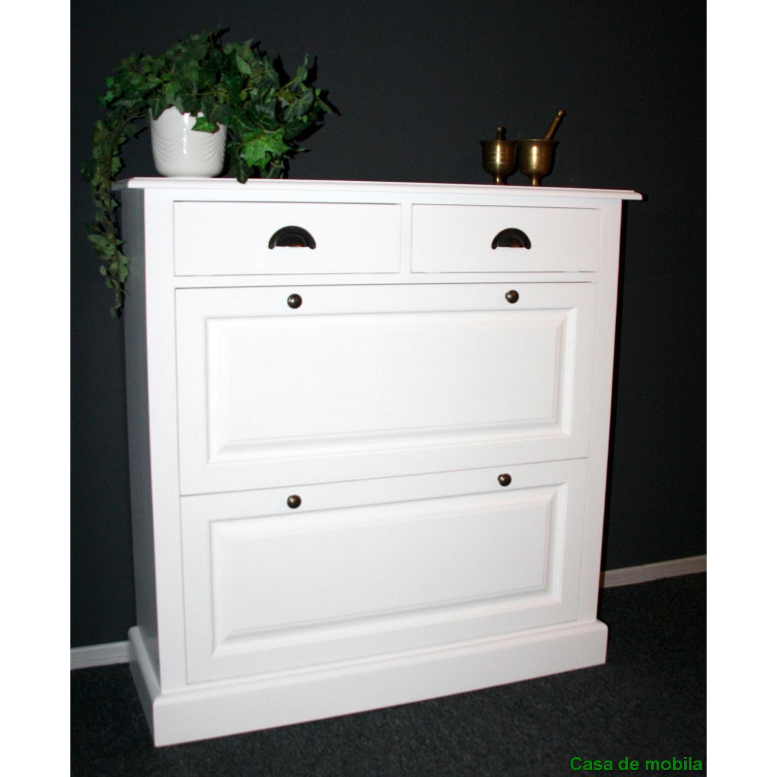 massivholz schuhschrank schuhkommode fichte massiv wei. Black Bedroom Furniture Sets. Home Design Ideas
