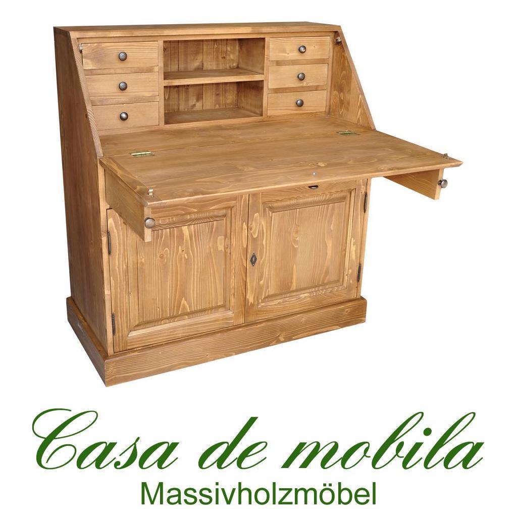 massivholz sekret r fichte massiv antik dunkel gewachst schreibschrank weichholz ebay. Black Bedroom Furniture Sets. Home Design Ideas