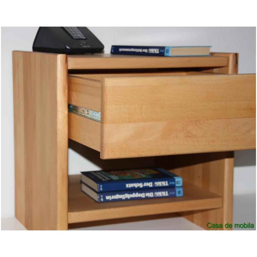 massivholz nachtkommode nachtschrank massiv ge lt holz nachttisch kernbuche ebay. Black Bedroom Furniture Sets. Home Design Ideas