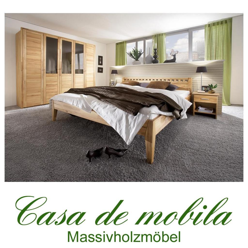 massivholz schlafzimmer komplett kernbuche massiv ge lt diana ii bett 200x200 ebay. Black Bedroom Furniture Sets. Home Design Ideas