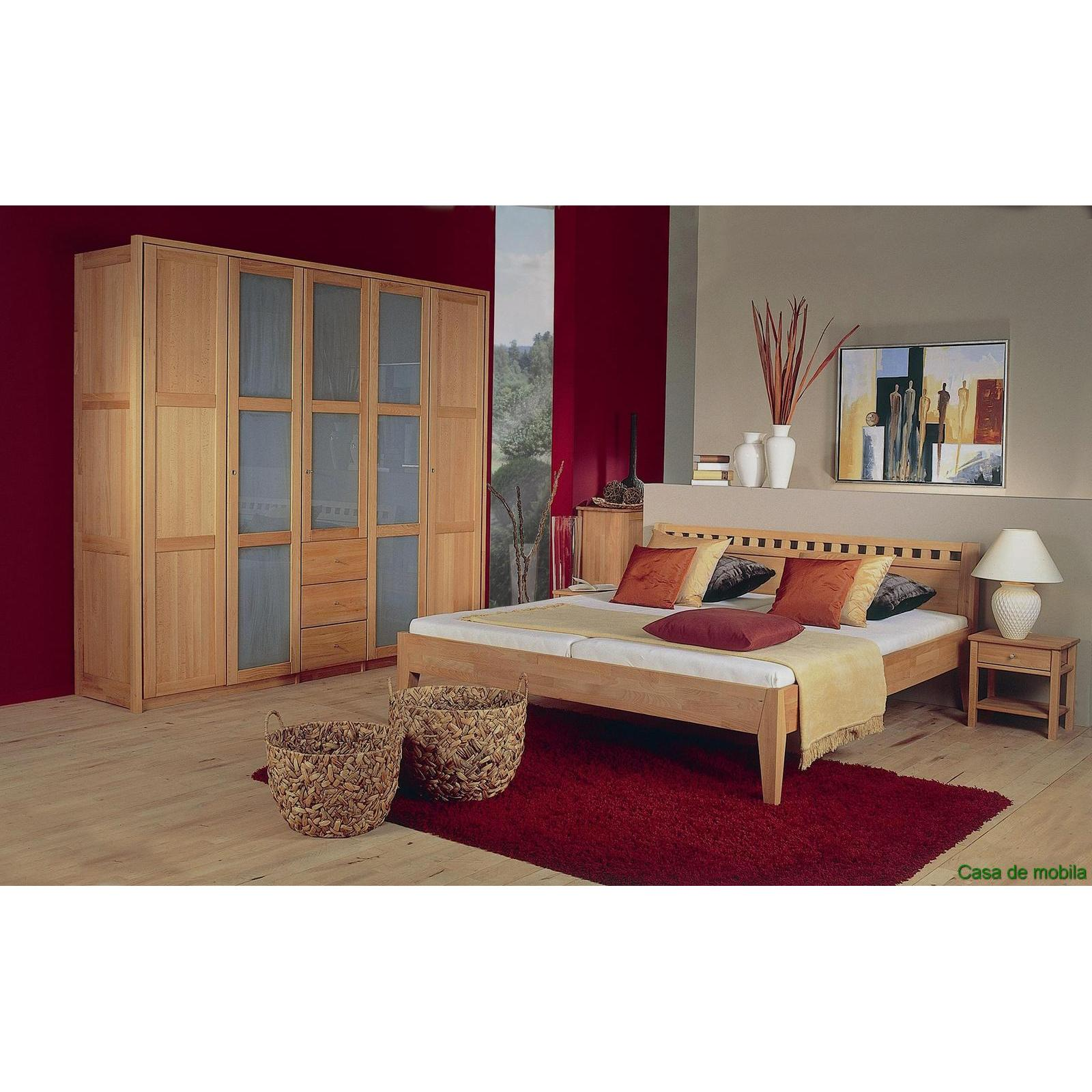 massivholz schlafzimmer komplett buche massiv ge lt diana ii holz bett 160x200 ebay. Black Bedroom Furniture Sets. Home Design Ideas