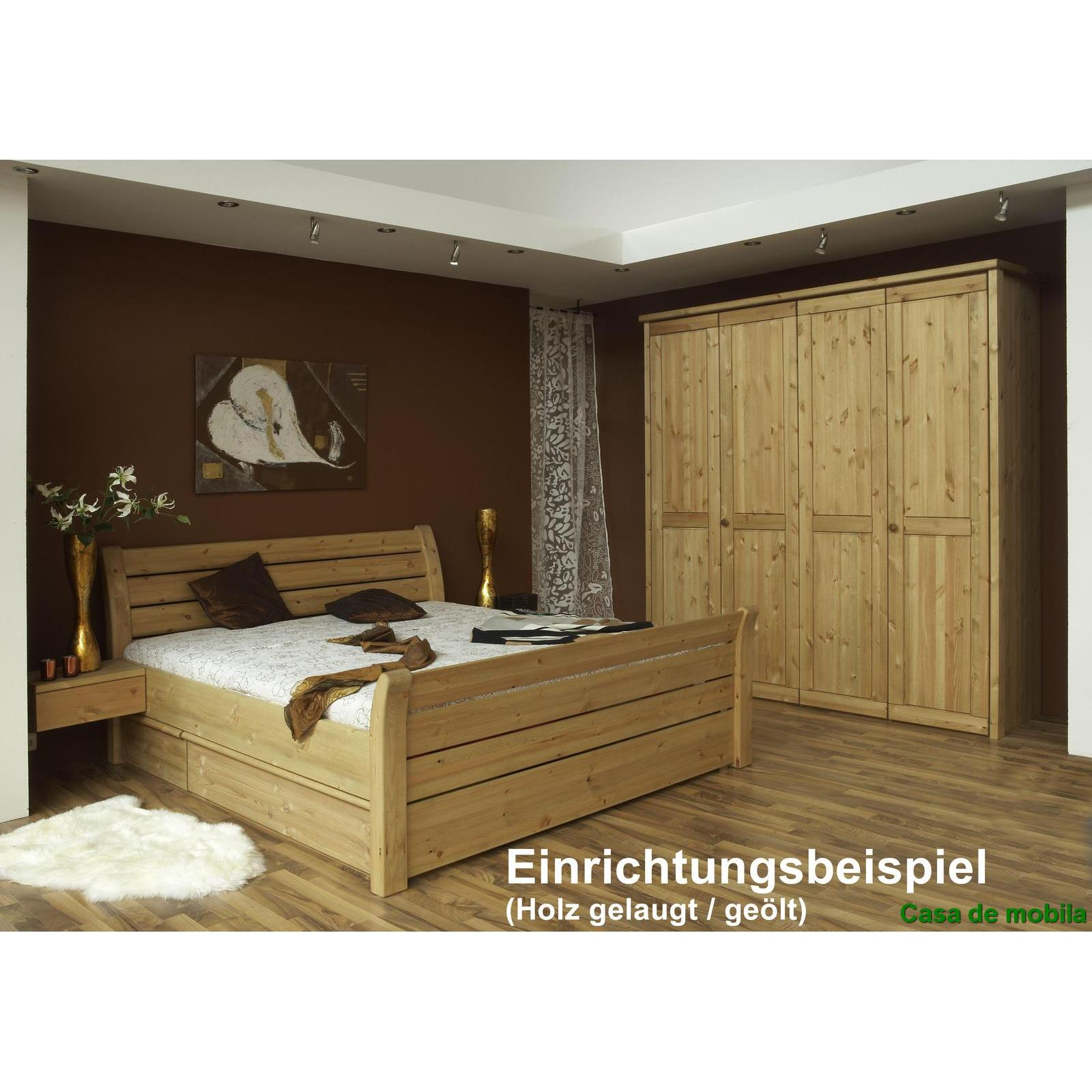 massivholz kleiderschrank kiefer gelaugt ge lt rauna 5 t rig mit. Black Bedroom Furniture Sets. Home Design Ideas