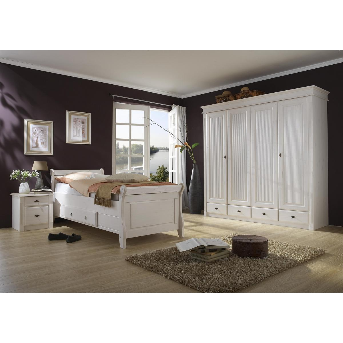 Schlafzimmer Komplett Massivholz : Schlafzimmer Komplett Massivholz Weiß  Massivholz Schlafzimmer