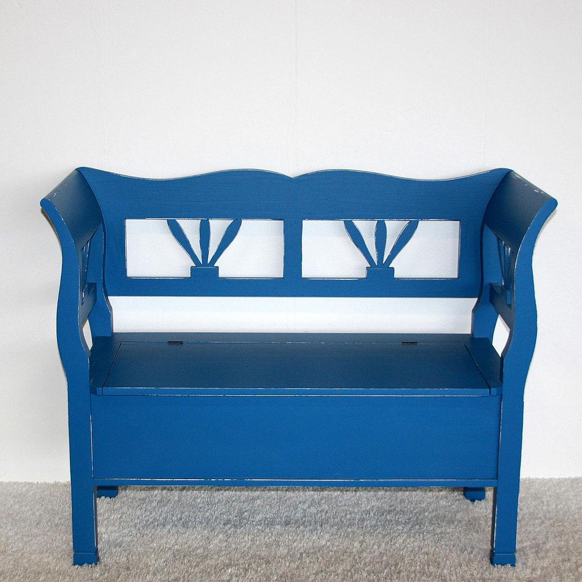 massivholz truhenbank mit lehne k chenbank sitzbank. Black Bedroom Furniture Sets. Home Design Ideas
