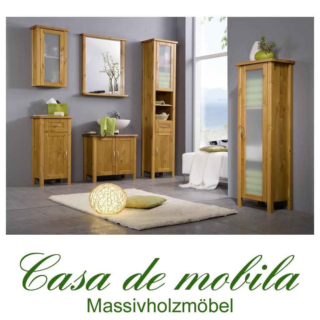 massivholz badm bel kiefer set 6 teilig komplett venedig honigfarben lackiert ebay. Black Bedroom Furniture Sets. Home Design Ideas