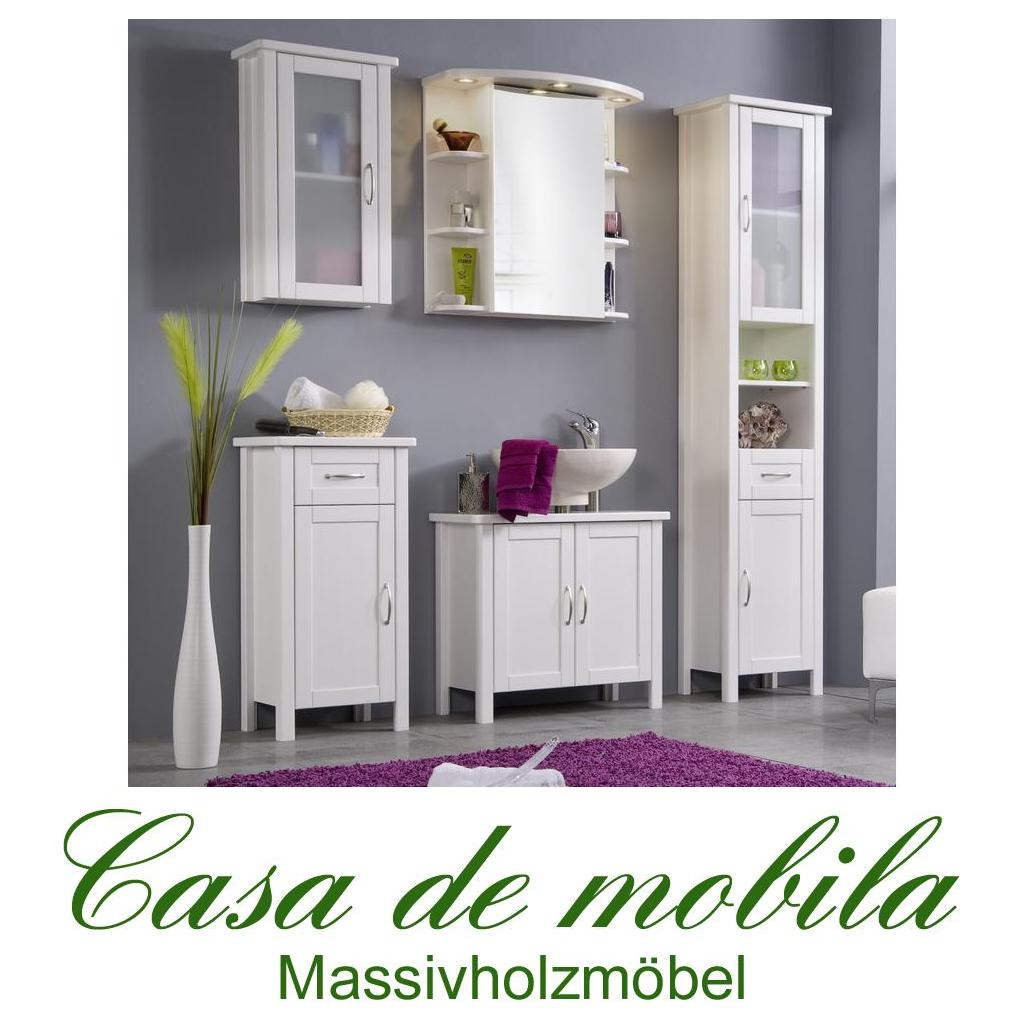 massivholz badm bel badezimmer badset kiefer massiv wei set 5 teilig venedig. Black Bedroom Furniture Sets. Home Design Ideas