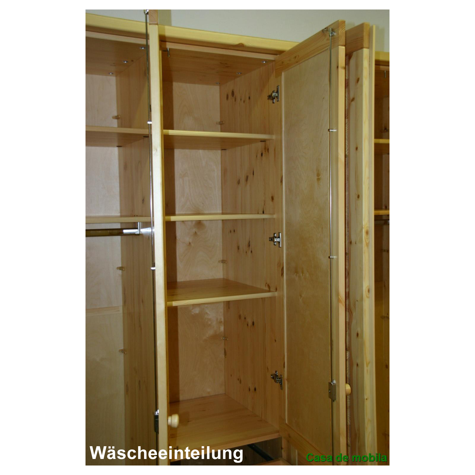 massivholz kleiderschrank kiefer massiv gelaugt ge lt. Black Bedroom Furniture Sets. Home Design Ideas