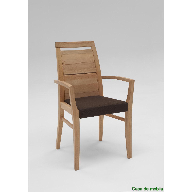 Wäschetruhe Holz Dunkelbraun ~ Wimmer Wohnkollektion Massivholz Armlehnstuhl mit Polster Buche massiv