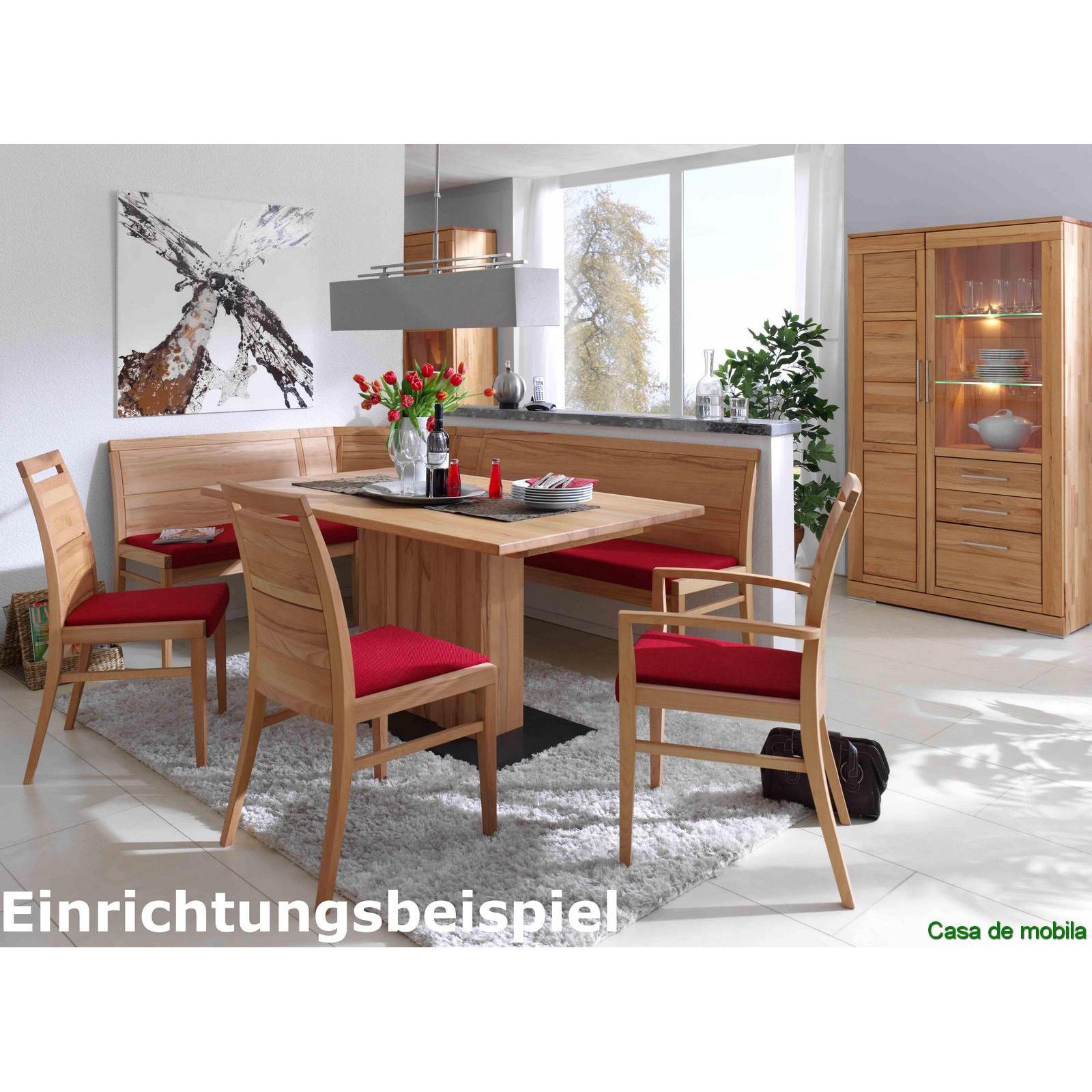 Bank mit Rückenlehne Küchenbank 190 cm. Kernbuche massiv natur geölt CASERA