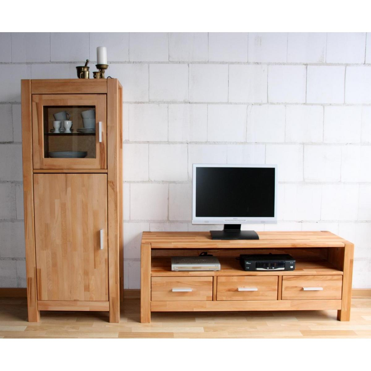 massivholz wohnwand buche massiv ge lt anbauwand max. Black Bedroom Furniture Sets. Home Design Ideas
