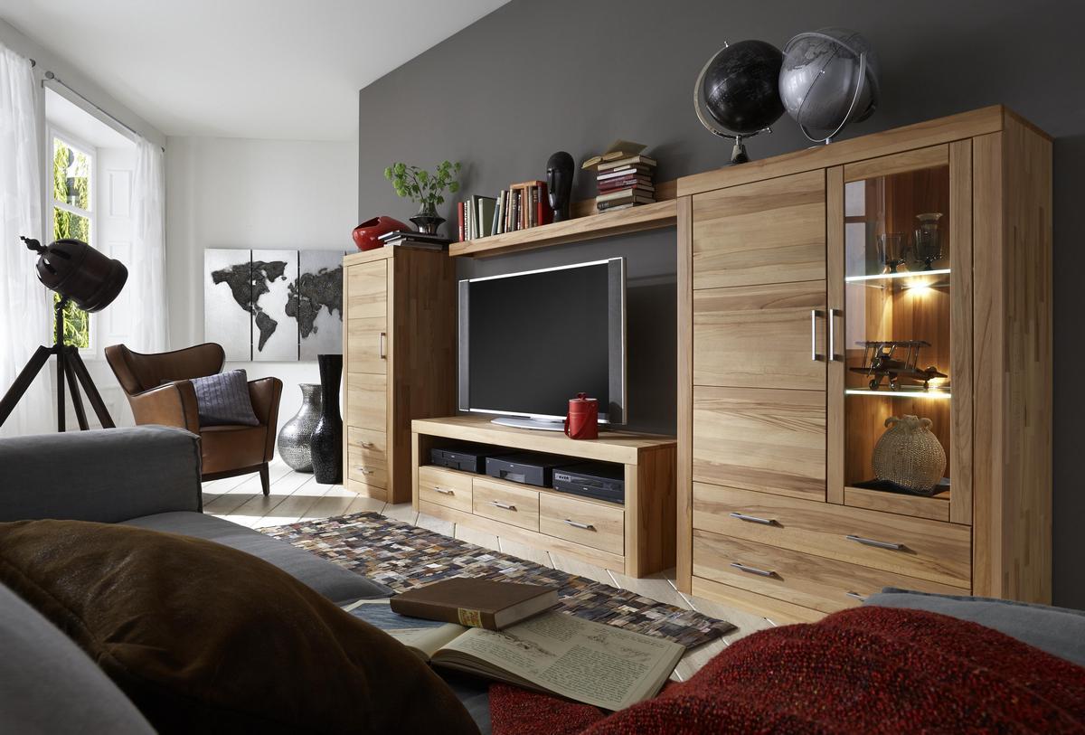 Wohnwände holz massiv modern  Wohnwand Holz Modern
