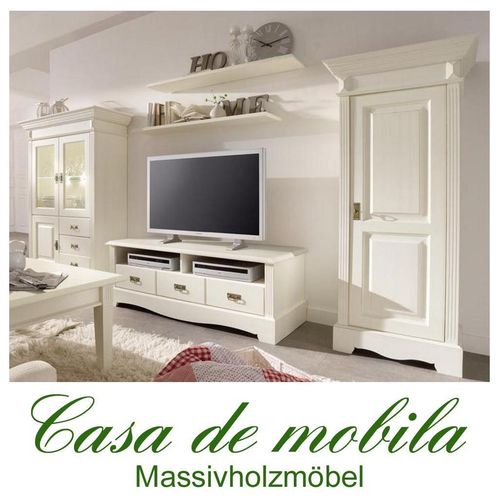 landhaus anbauwand wohnwand kiefer paris vintage champagner gebeizt lackiert. Black Bedroom Furniture Sets. Home Design Ideas