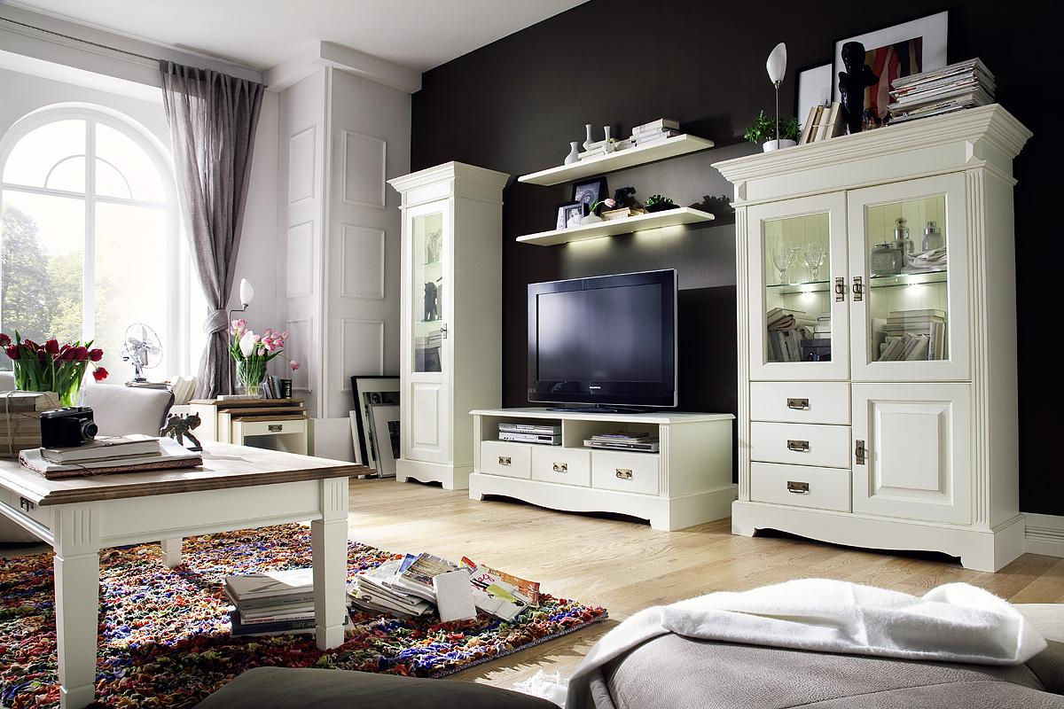 landhaus anbauwand kiefer paris vintage champagner gebeizt lackiert. Black Bedroom Furniture Sets. Home Design Ideas