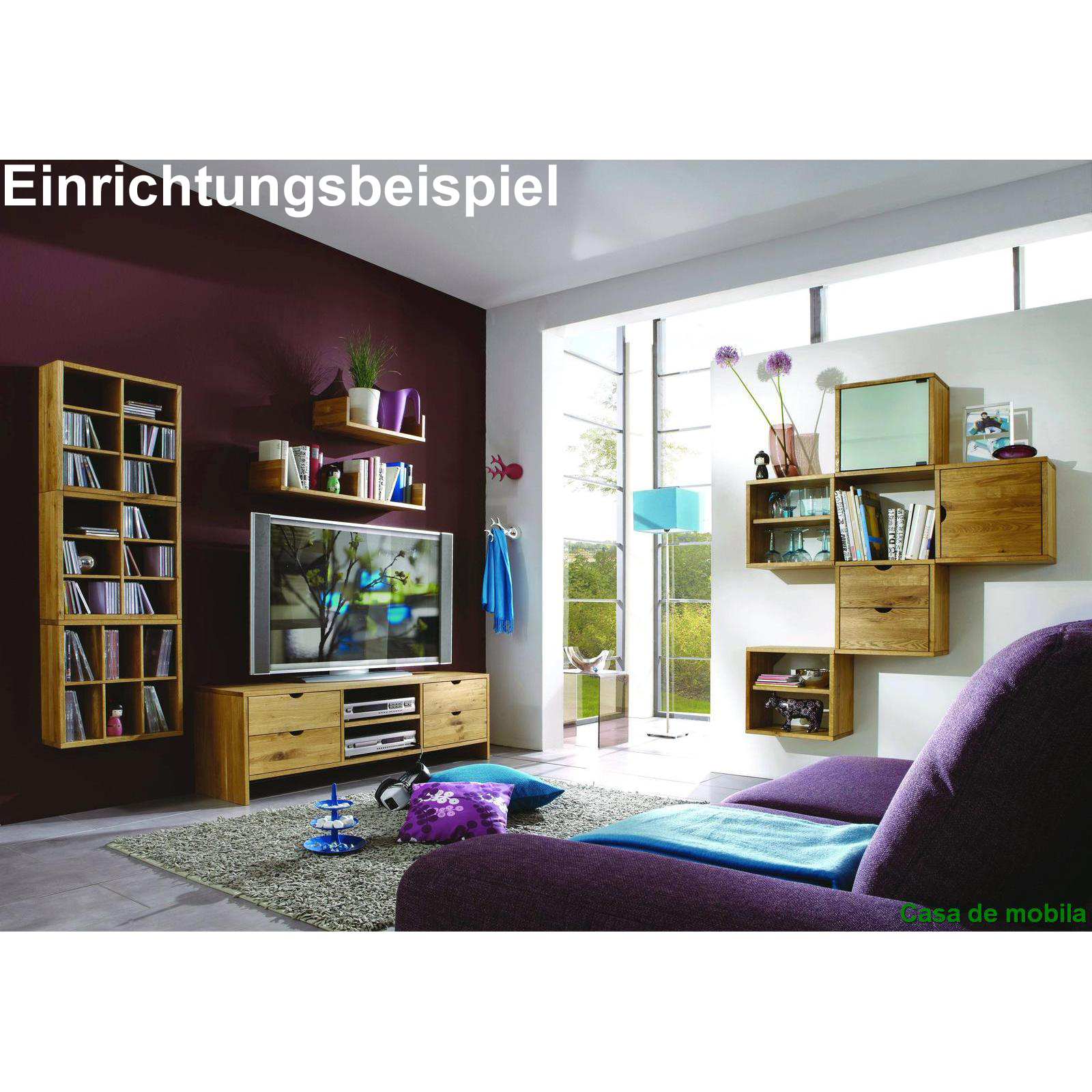 h ngeregal wandregal cd regal dvd b cherregal wildeiche massiv holz ge lt eiche ebay. Black Bedroom Furniture Sets. Home Design Ideas