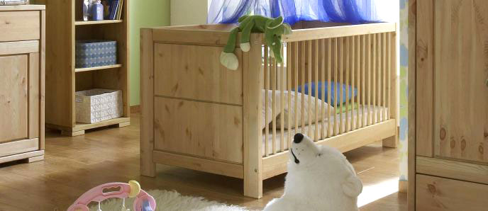 babybetten aus massivholz. Black Bedroom Furniture Sets. Home Design Ideas