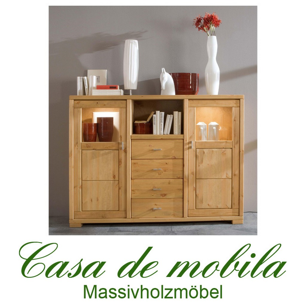 moderne kchen gnstig startseite esszimmer highboards vertikos massivholz highboard kiefer