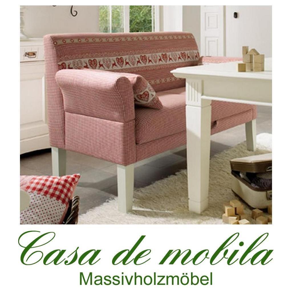 Tischsofa Friesensofa LINZ - Küchensofa Landhausstil mit Federkern und rotem