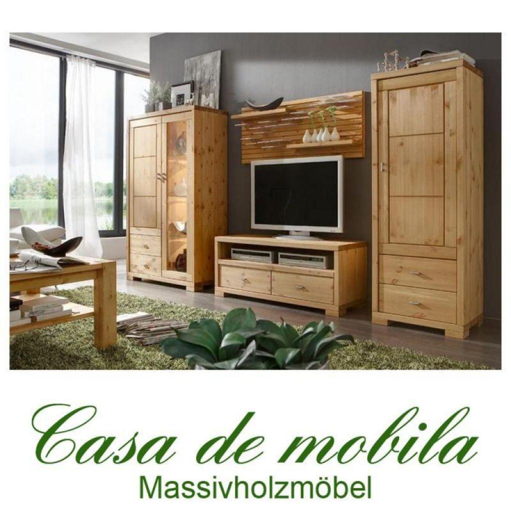 massivholz wohnwand kiefer massiv gelaugt ge lt 4 teilig anbauwand guldborg. Black Bedroom Furniture Sets. Home Design Ideas
