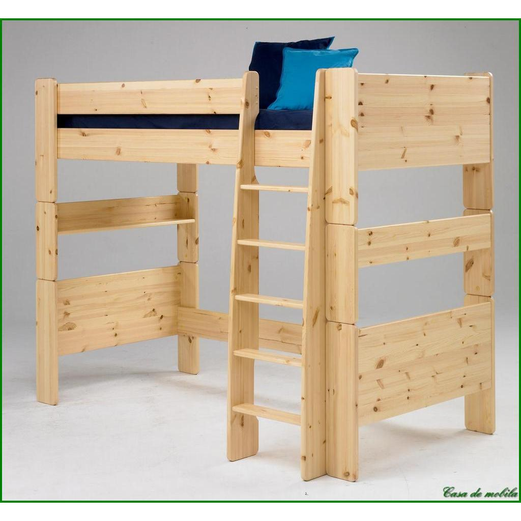 hochbett gro 90x200 for kids kiefer massiv natur lackiert. Black Bedroom Furniture Sets. Home Design Ideas