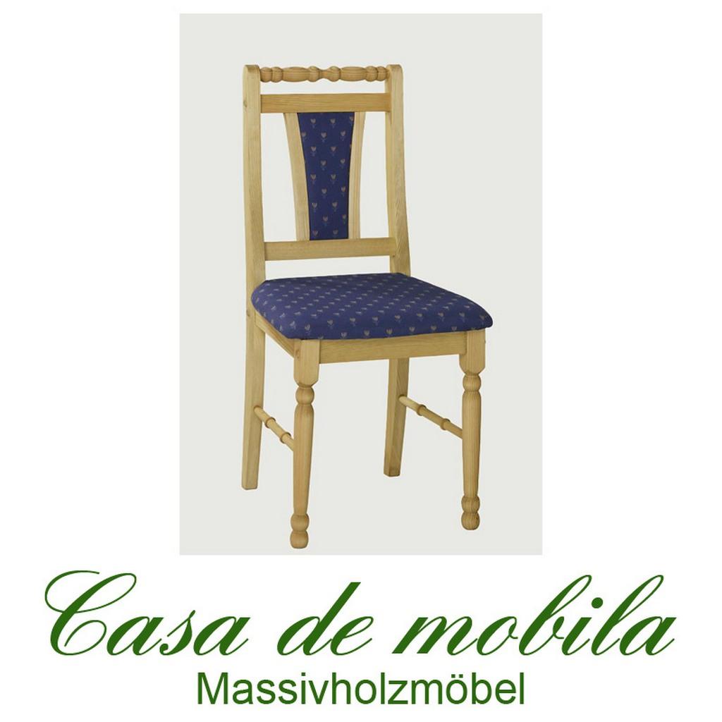 Küchenstuhl Stuhl mit Polster Kiefer gelaugt geölt KIRSTEN