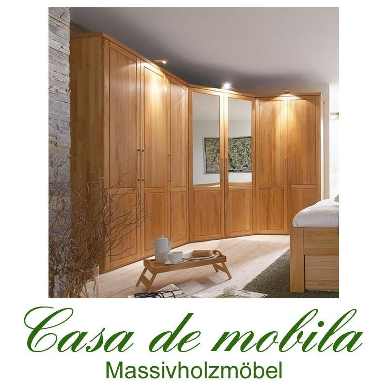 massivholz eck kleiderschrank 7 t rig palermo kernbuche. Black Bedroom Furniture Sets. Home Design Ideas