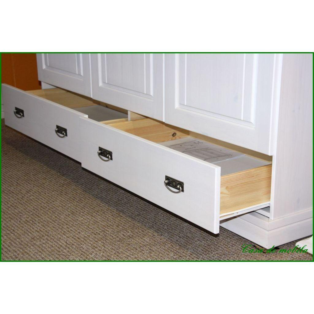 babyschrank kleiderschrank wei lasiert odette 3 t rig. Black Bedroom Furniture Sets. Home Design Ideas