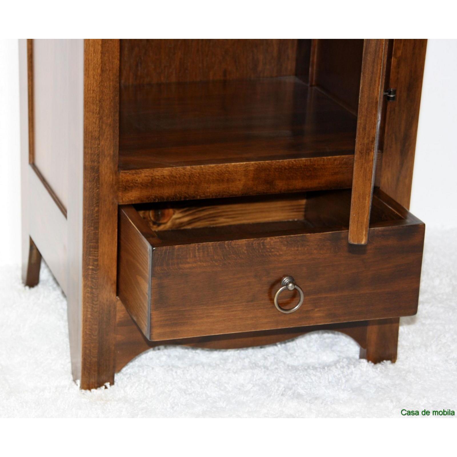 badkommode flurkommode kommode schmal braun nussbaum kolonial. Black Bedroom Furniture Sets. Home Design Ideas