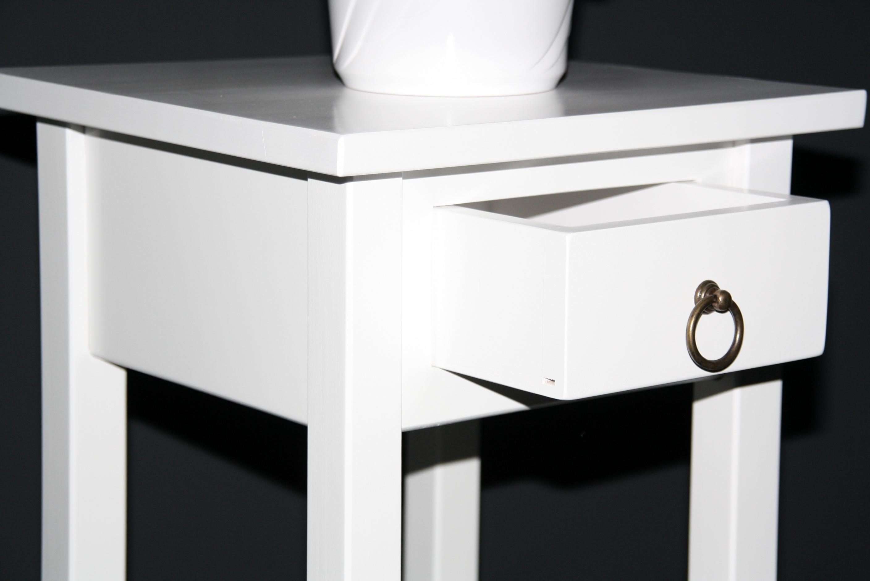 blumentisch blumenhocker telefontisch 70 weiss lackiert bei casa de mobila. Black Bedroom Furniture Sets. Home Design Ideas
