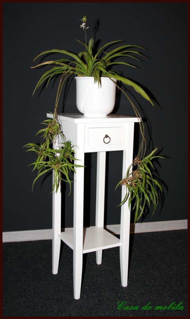 klassische blumentisch blumenhocker weiss lackiert 80 bei casa de mobila. Black Bedroom Furniture Sets. Home Design Ideas