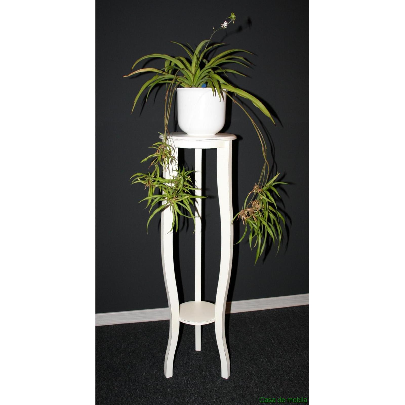 blumenst nder rund blumenhocker 100 cm wei antik lackiert bei casa de mobila. Black Bedroom Furniture Sets. Home Design Ideas