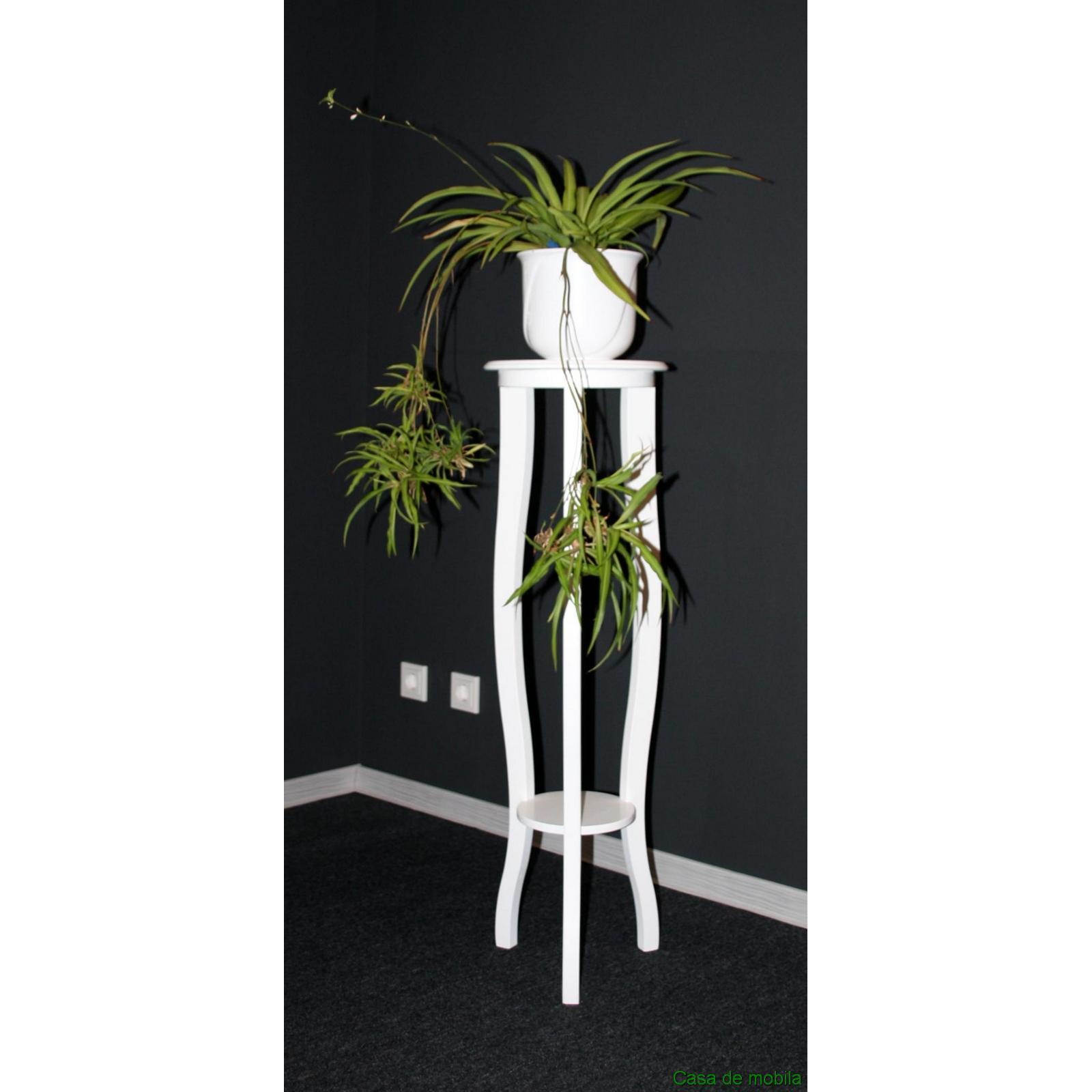 blumentisch blumenst nder rund blumenhocker wei lackiert 100 cm bei casa demobila. Black Bedroom Furniture Sets. Home Design Ideas