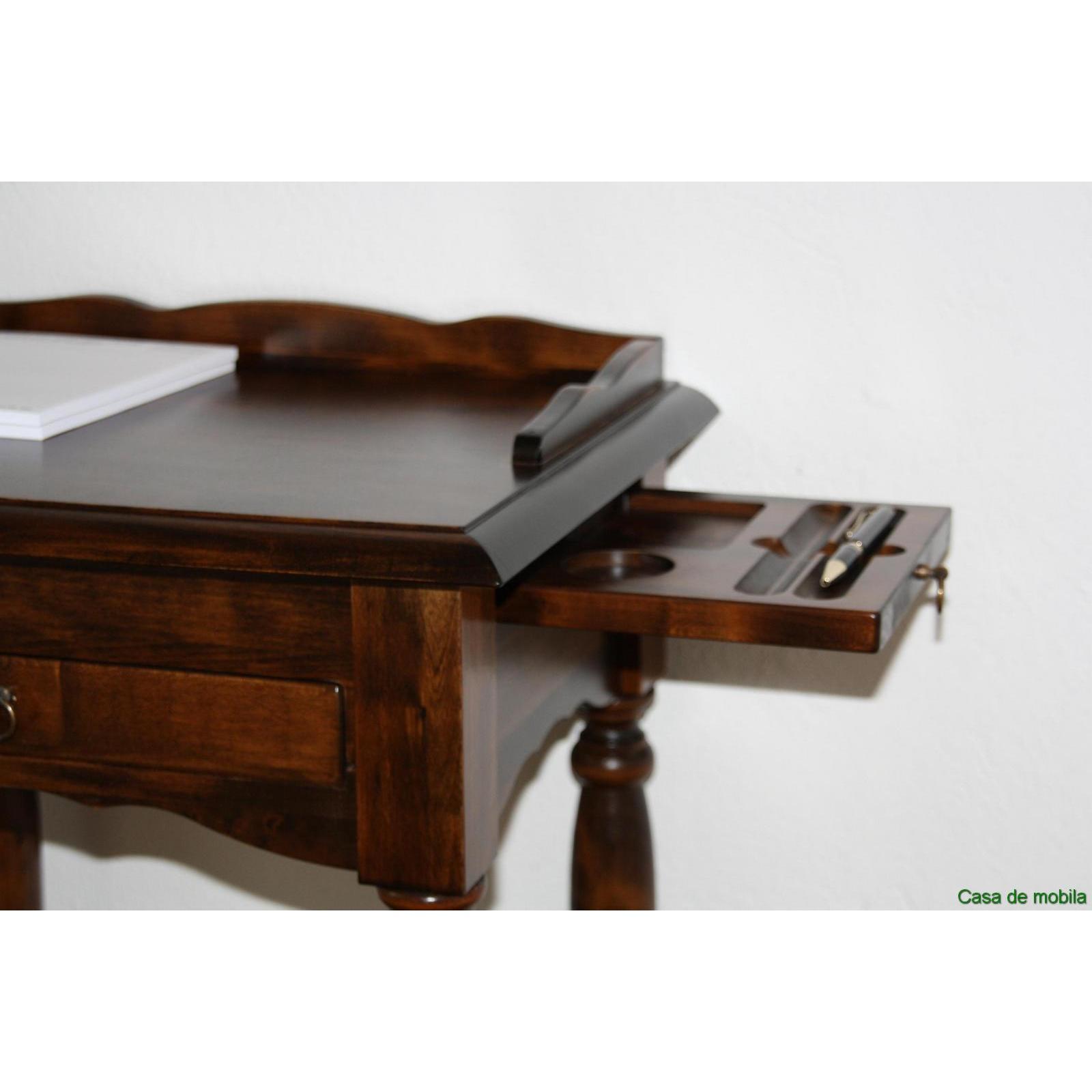 Telefontisch telefonkonsole konsolentisch kolonial braun for Beistelltisch laptop